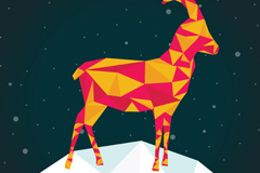 Link to2015 the snow goats vector