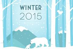 Link to2015 winter polar bear cartoon vector images