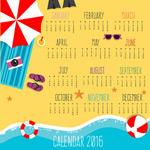 Link to2016 beach calendar vector