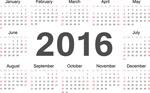 Link to2016 calendar design vector