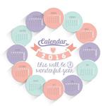 Link to2016 circular calendar vector