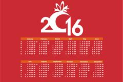 Link to2016 cityscape calendar vector