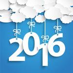 2016 cloud ornaments vector