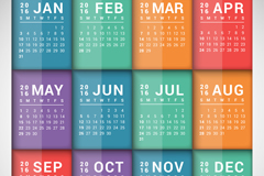 Link to2016 color rectangular calendar vector graphics