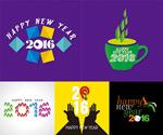 2016 monkey creative design vector