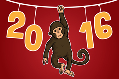 Link to2016 monkey fun card vector
