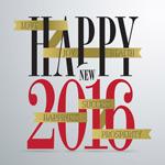 2016 new year word art vector