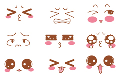 Link to21 cartoon cute expression vector