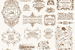 Link to21 paragraph patterned quality tag vector