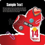 Link to214 valentines theme vector