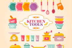 22 color kitchen design vector graph