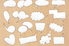 Link to22 hand-painted bubble language vector diagrams