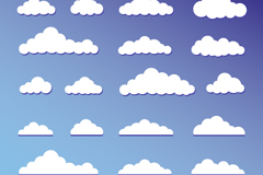 Link to22 white clouds design vector