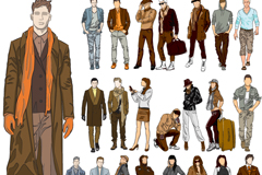 Link to23 fashion model design vector