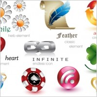 Link to24 beautiful and free 3d vector icons