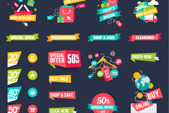 Link to24 exquisite shopping tag vector