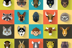 Link to25 animal avatar icon vector