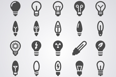 Link to25 black light bulb icon vector