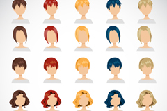 Link to25 expressionless character avatar cartoon vector illustration