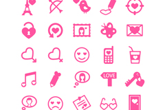 Link to25 pink valentine icon vector