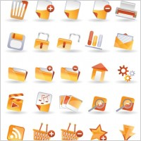 Link to25 practical icon vector