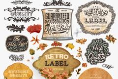 Link to27 elegant flower tags design vector