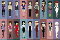Link to27 in fashion design vector
