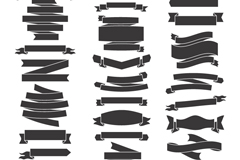 Link to28 black ribbon design vector