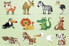 Link to28 domestic and wild animals vector