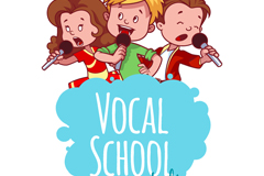 Link to3 a conservatoire singing boy vector