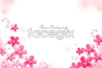 Link to3 beautiful flower background vector