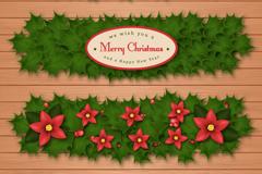 Link to3 beautiful mistletoe banner vector