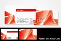 Link to3 bright business card template vector