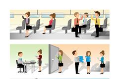 Link to3 business banner design vector
