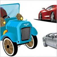 Link to3 car vector material