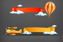 Link to3 cartoon fly tool banner vector