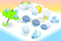 Link to3 cartoon weather icon vector