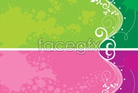 Link to3 color pattern banner vector