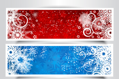 Link to3 color snowflake banner vector