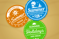 Link to3 color summer holiday tag vector