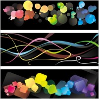 Link to3 colorful background vector
