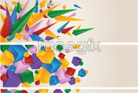 Link to3 colorful graphic banner background vector