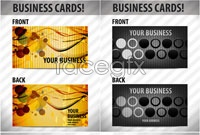 Link to3 creative business card template vector map