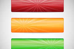 Link to3 creative color banner vector