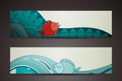 Link to3 creative marine banner design vector