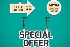 Link to3 creative specials tag vector