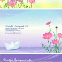 Link to3 cute little daisy and background vector from