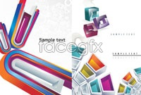 Link to3 dimensional graphics background vector