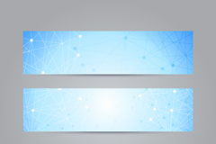 Link to3 dot connection line decorative banner vector