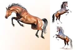 Link to3 dynamic horse vector illustration